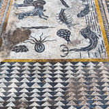 roof mosaic in the  fish africa and history travel Stock Photo