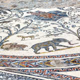 Roof mosaic in the old     city morocco africa and history travel Royalty Free Stock Photos
