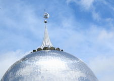 Roof of mosque in Sorong. Muslim mosque - shining silver roof - in Sorong (Papua Barat, Indonesia Stock Image