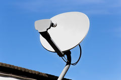 Roof Mounted Satellite Dish Stock Images