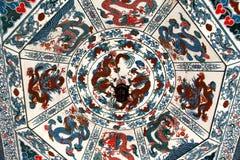 The roof of Nanchang tengwang pavilion , jiangxi, China. Royalty Free Stock Images