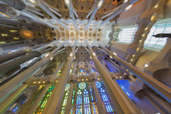Roof of the nave of the Sagrada Familia, Stock Photos