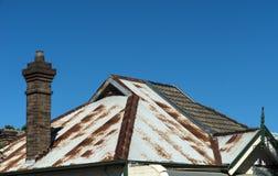 Roof rusty iron Stock Photos