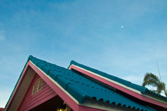 Roof of a new wooden house Royalty Free Stock Photography