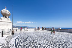 On the roof of Oceanographic Museum of Monaco Royalty Free Stock Photography