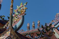 The roof of the old Chinese temple. The roof of the old Chinese temple royalty free stock photography