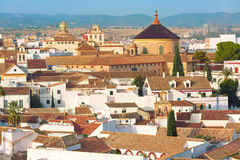 Roof of the old city and church in Cordoba, Spain Royalty Free Stock Photo