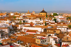Roof of the old city and church in Cordoba, Spain Stock Images