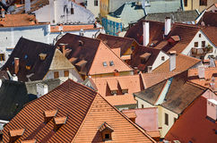 Roof of an old European city Royalty Free Stock Photo