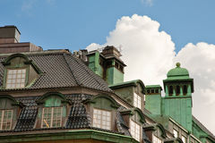 Roof of old house in Stockholm Stock Images