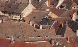 Roof of old houses Stock Image