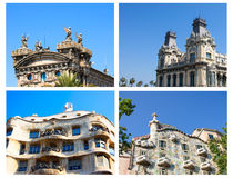 Roof of old houses. Roofs of old houses at Barcelona Catalonia Spain Stock Image