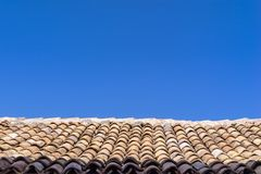 Roof from an old tile Royalty Free Stock Photo
