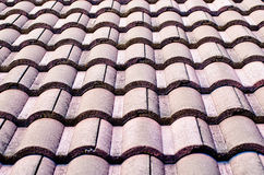 Roof. Old tile roof (pattern texture royalty free stock images