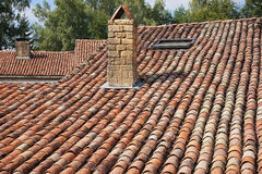 Roof with old tiles Royalty Free Stock Images