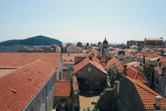 Roof. Old town of Dubrovnik, Croatia. Balkans, Adriatic sea, Europe. Beauty world. Stock Image