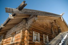 Roof of the old wooden building Royalty Free Stock Image