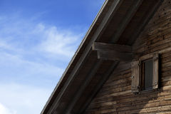 Roof of old wooden hotel Stock Images