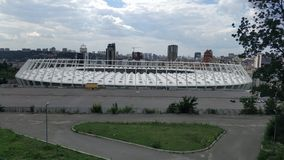 roof of the Olympic NSC in Kiev Royalty Free Stock Photos