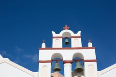 Roof of one Church in Santorini Stock Images