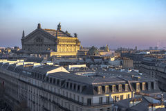 Roof of Opera Garnier Stock Photography