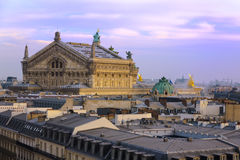 Roof of Opera Garnier Stock Photo