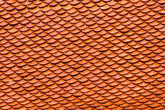 Roof. Orange roof is mainly used for thai temple royalty free stock images