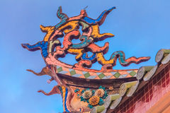 Roof ornament of a buddhist temple Royalty Free Stock Photos