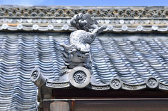 Roof ornament of Japanese temple. Kyoto Japan. Royalty Free Stock Images
