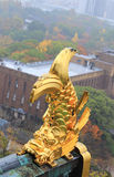 Roof ornament at Osaka Castle in the form of shachi Royalty Free Stock Photography