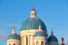 Roof of Orthodoxy church in Petersburg. Landscape with roof of Orthodoxy church in Petersburg Royalty Free Stock Photos