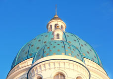 Roof of Orthodoxy church in Petersburg Stock Photos