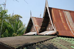 Roof and outdoor design of thai house Royalty Free Stock Photography