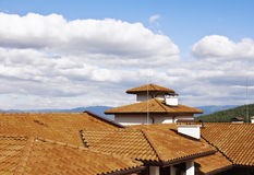 Roof over Bansko  in Bulgaria Royalty Free Stock Images