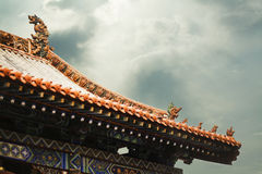 Roof of the pagoda, Chinese architecture, Shanxi Province, China Stock Photo