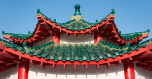 Roof of a pagoda by the Da Bogong Temple on Kusu Island Royalty Free Stock Photos