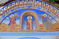 Roof painting at Rila Monastery church Stock Photography