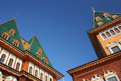 Roof. The palace in the estate Kolomenskoe. Moscow Royalty Free Stock Photography