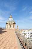 On the roof of Palermo cathedral Stock Images