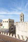 On the roof of Palermo cathedral royalty free stock photos