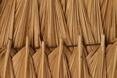 Roof of palm branches Stock Images