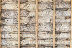 Roof of palm leaf. Royalty Free Stock Images