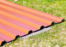 Roof panels Stock Photo
