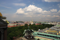 Roof panorama. View from the roof of the building is not the city panorama Royalty Free Stock Images