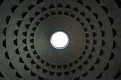 Roof of the pantheon in Rome Stock Images