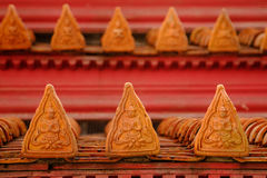 Roof part of Buddhism church  at Wat Benchamabophit temple Stock Photography