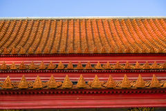 Roof part of Buddhism church  at Wat Benchamabophit temple Stock Photo
