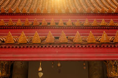 Roof part of Buddhism church  at Wat Benchamabophit temple Royalty Free Stock Photography