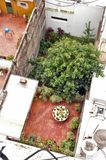 Roof Patio. Hidden roof patio in Buenos Aires with trees and plants royalty free stock photo