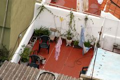 Roof Patio. Hidden roof patio in Buenos Aires, Argentina Royalty Free Stock Image